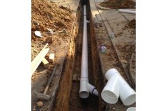 A typical storm water drainage under construction