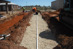 Construction of a trench