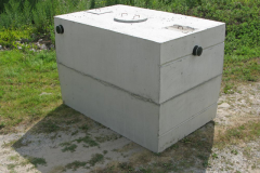 A typical septic tank